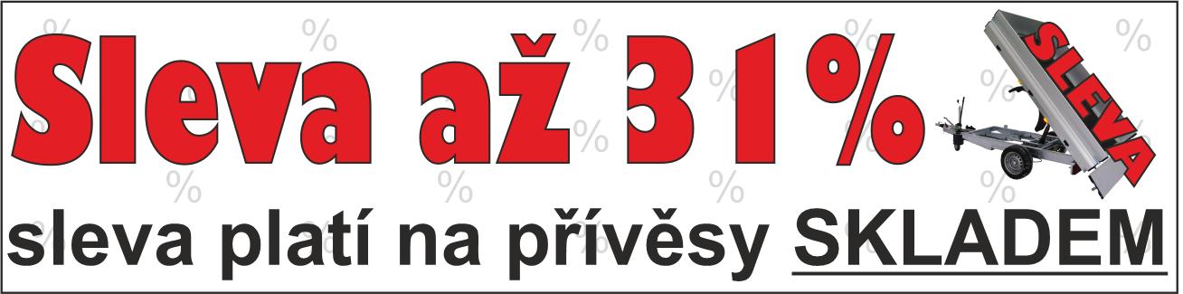 MAXI výprodej skladových přívěsů
